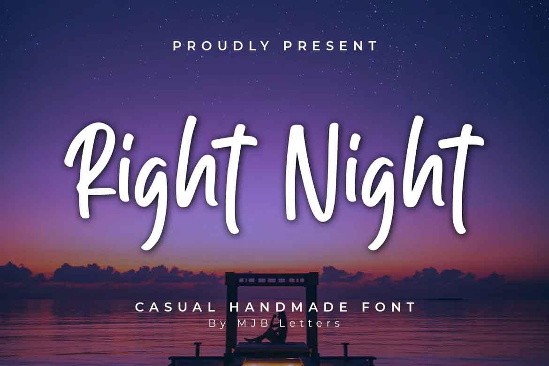 Right Night Font