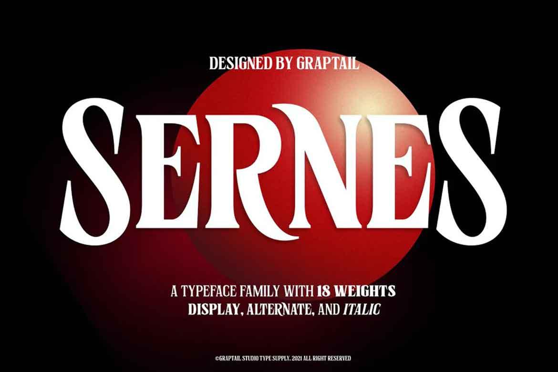 Sernes Font - Stranger Things Font