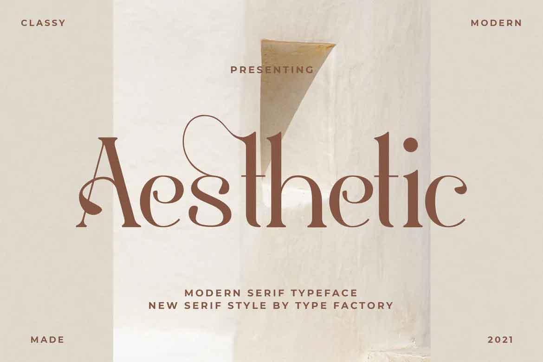 Aesthetic font