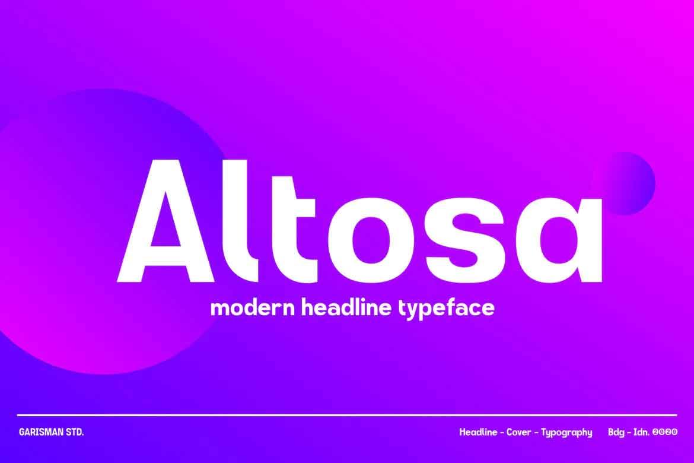 Altosa Font
