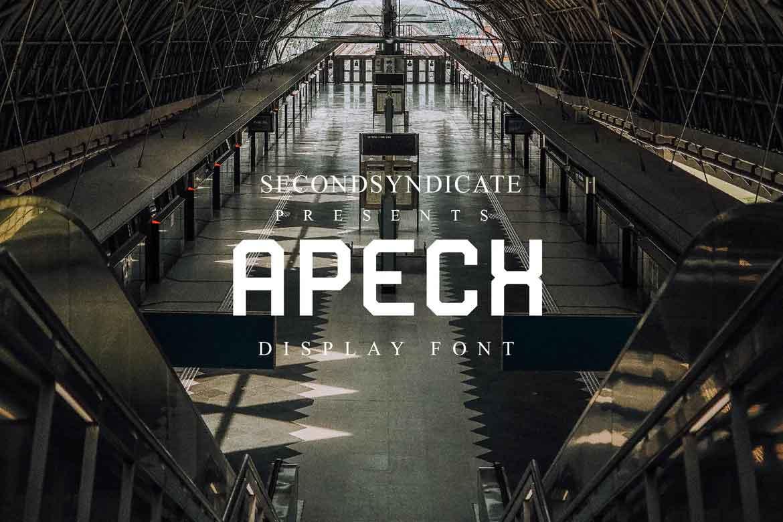 Apech Display Font