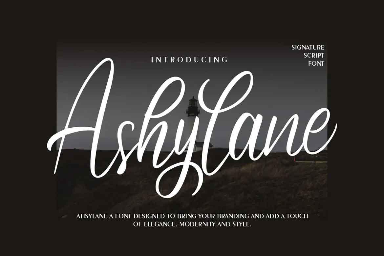 Ashylane Script Font