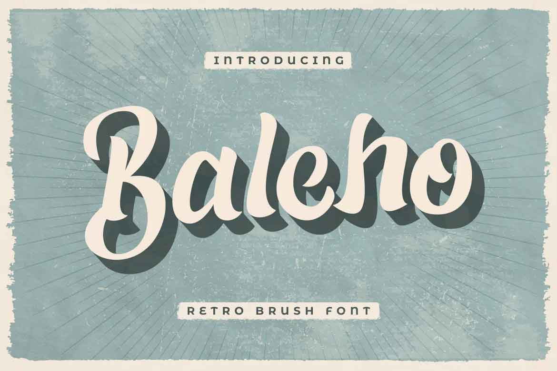 Baleho Font