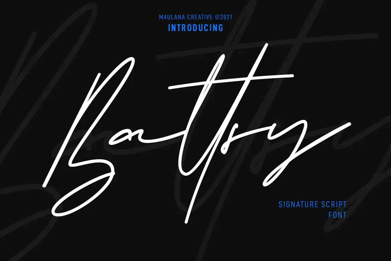 Battsy Signature Font