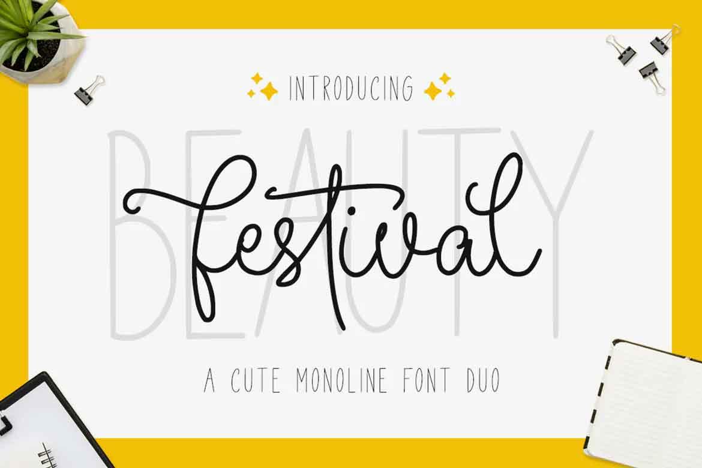 Beauty Festival Font Duo