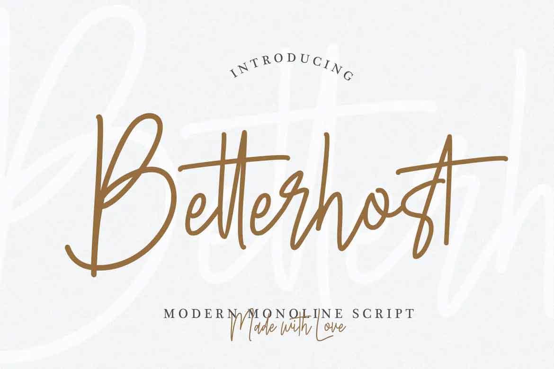 Betterhost Font