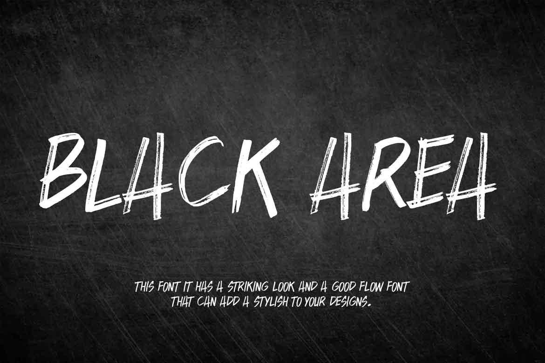 Black Area Font