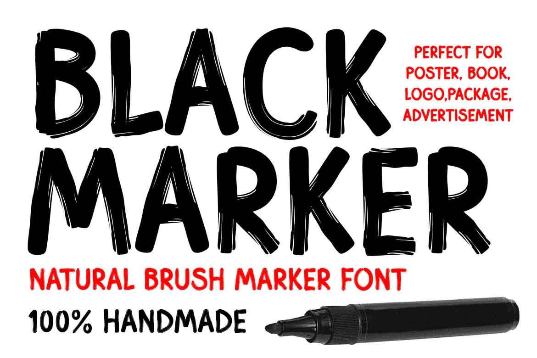 Black Marker Font