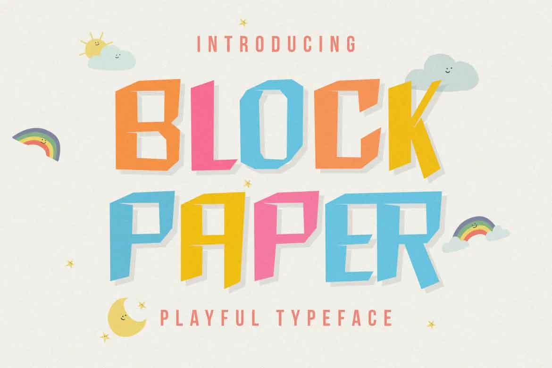 Block Paper Font