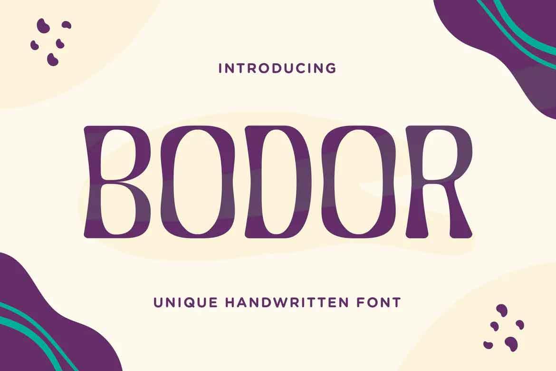 Bodor Font