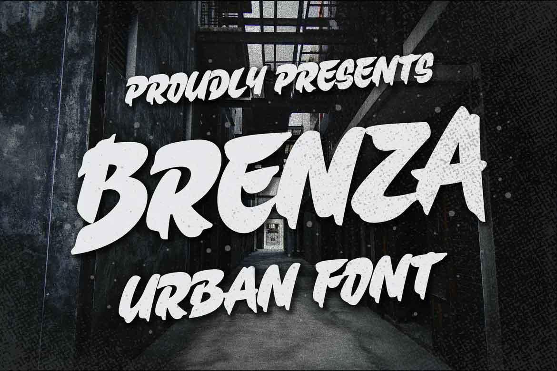 Brenza Trendy Urban Font
