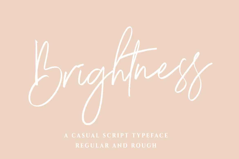 Brightness Font