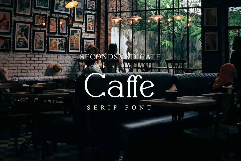 Caffe Serif Font