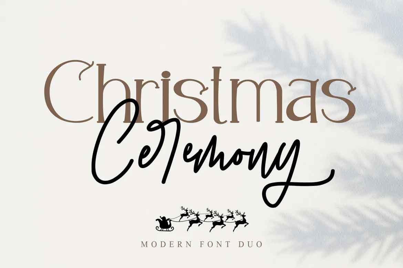 Christmas Ceremony Font