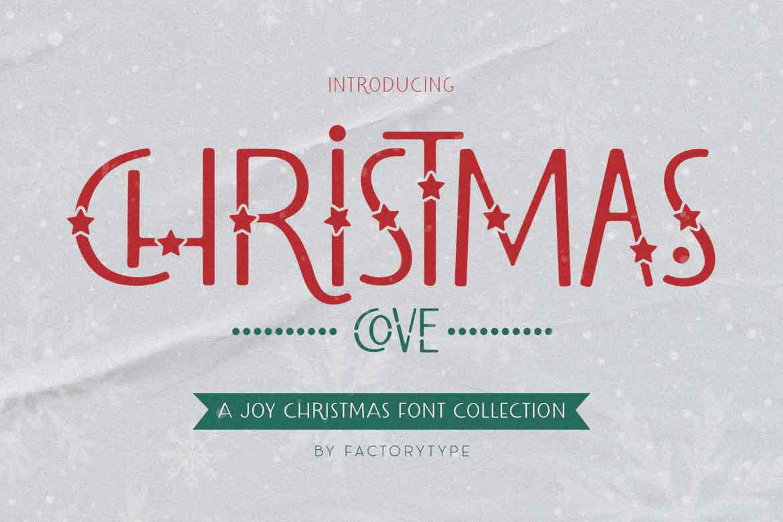 Christmas Cove Font