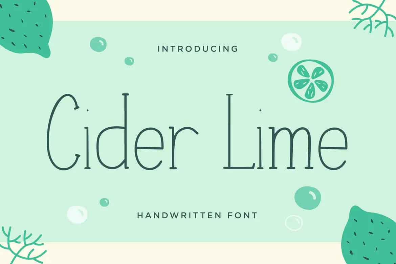 Cider Lime Font