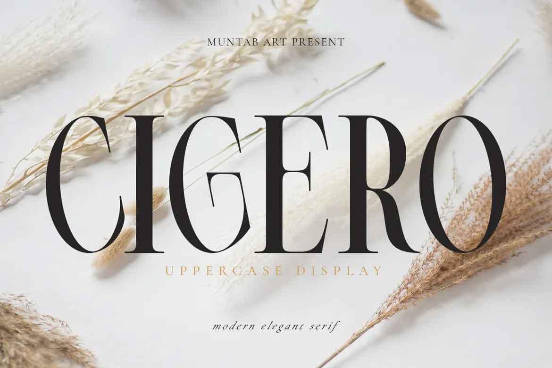Cigero Font