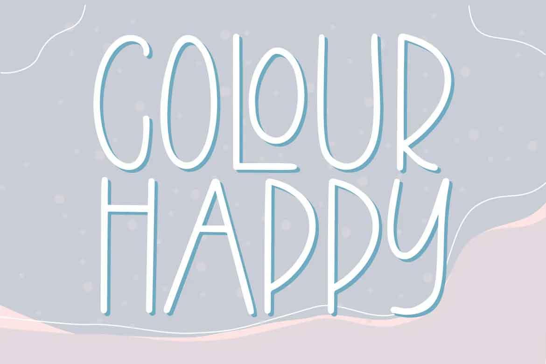 Colour Happy Font