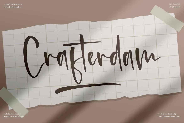Crafterdam Font