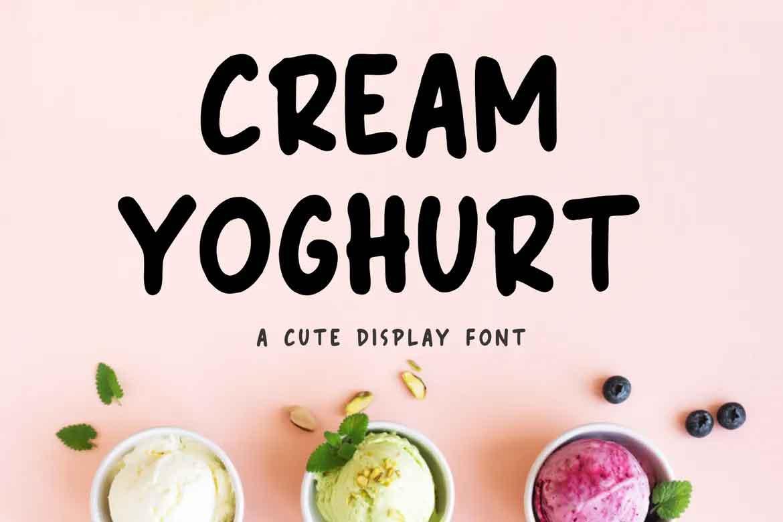 Cream Yoghurt Font