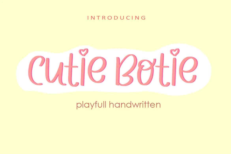 Cutie Botie Font
