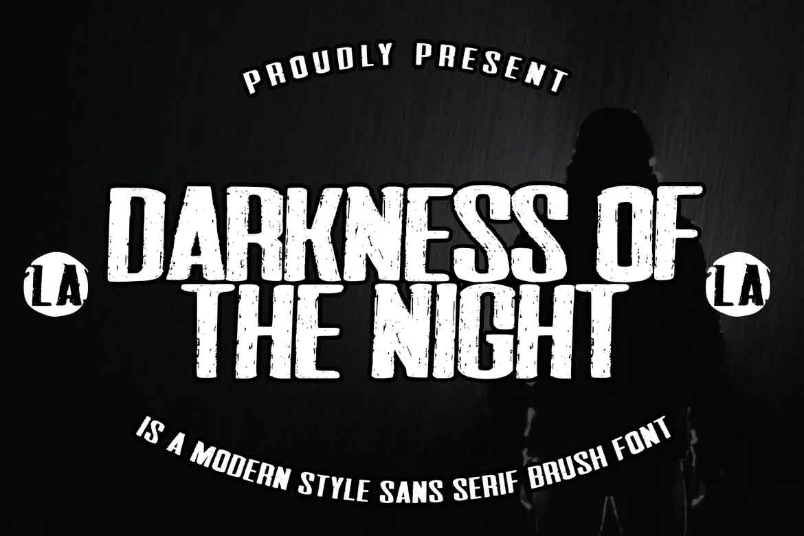 Darkness Of The Night Font