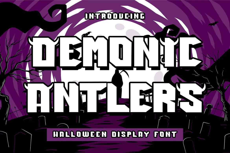 Demonic Antlers Font