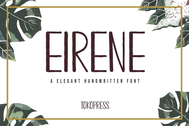 Eirene Girly Font