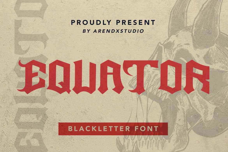 Equator Blackletter Font