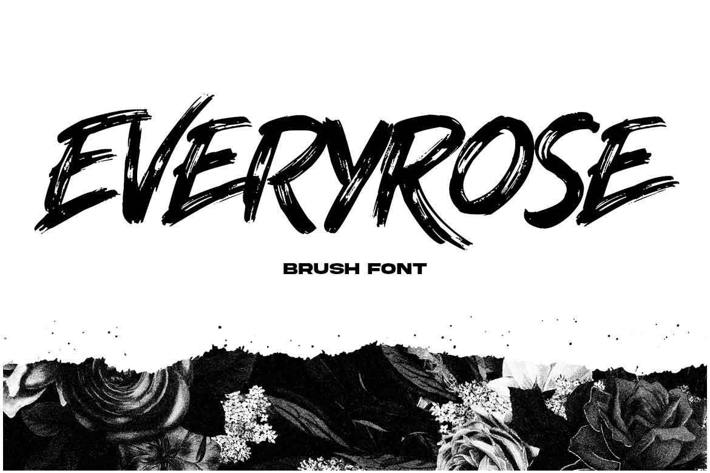 Everyrose Brush Font