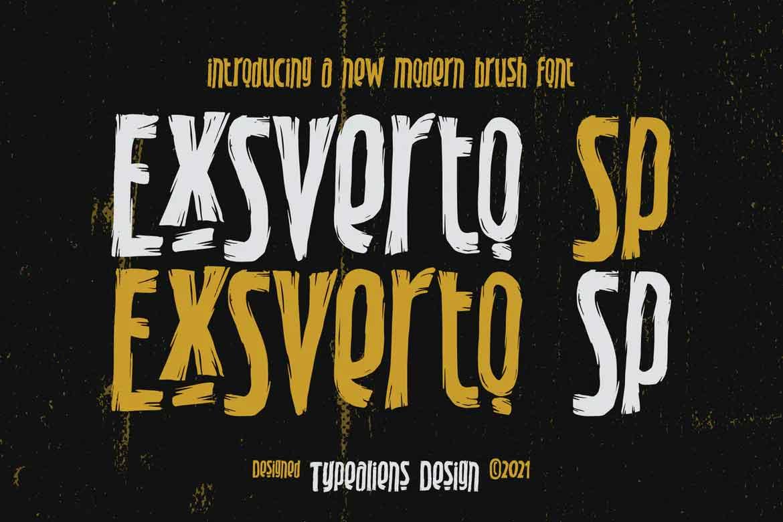 Exsverto Sp Font
