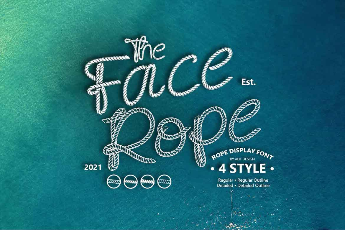 Face Rope Font