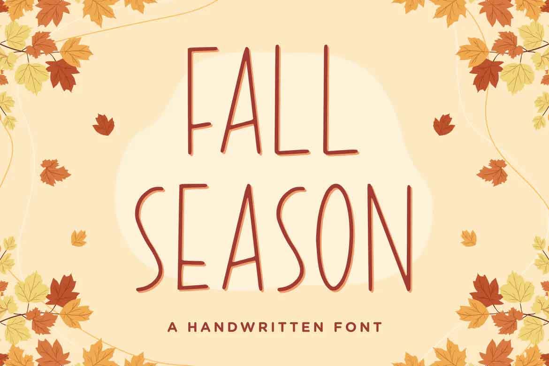 Fall Season Handwritten Font