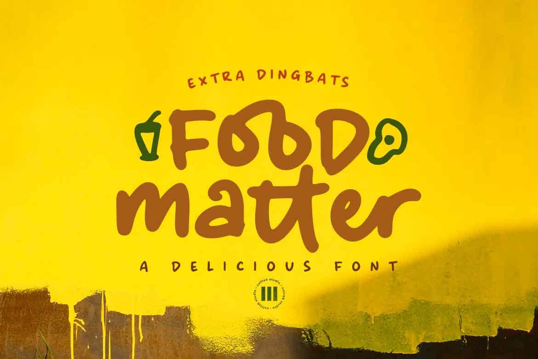 Food Matter Font