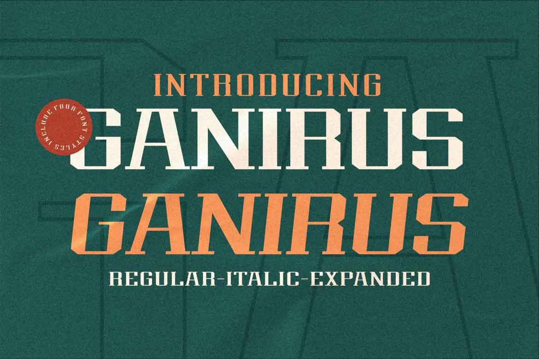 Ganirus Font