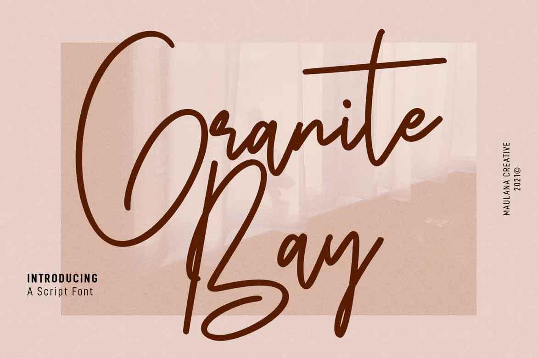 Granite Bay Script Font