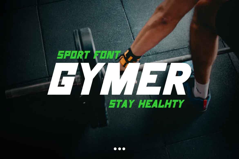 Gymer Sport Font