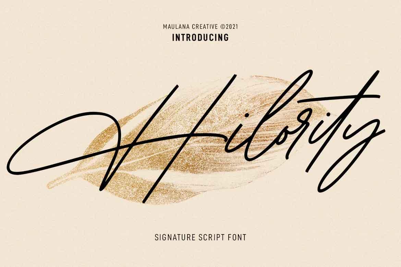 Hilority Signature Font