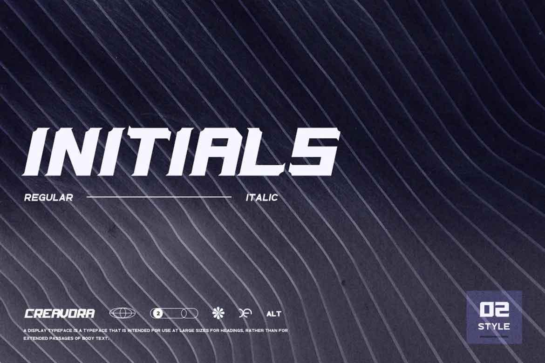 Initials Font