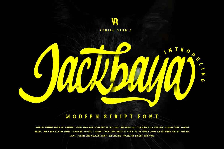 Jackbaya Font