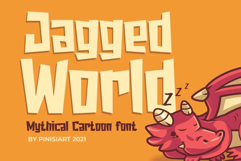 Jagged World Font