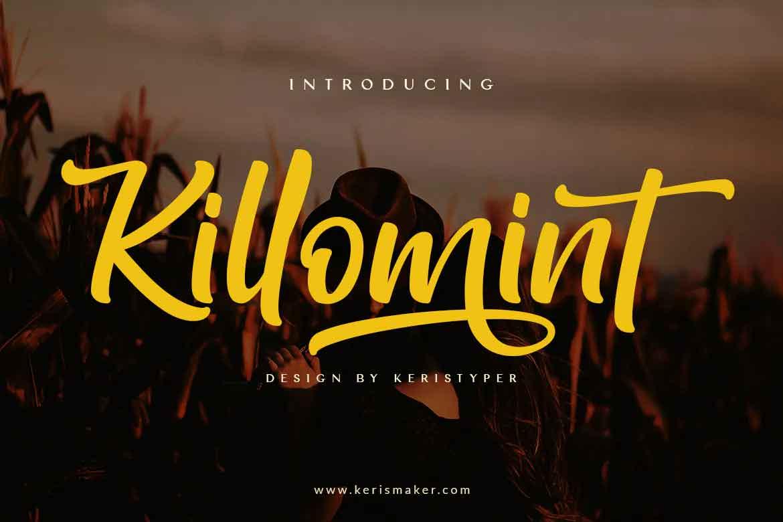 Killomint Script Font