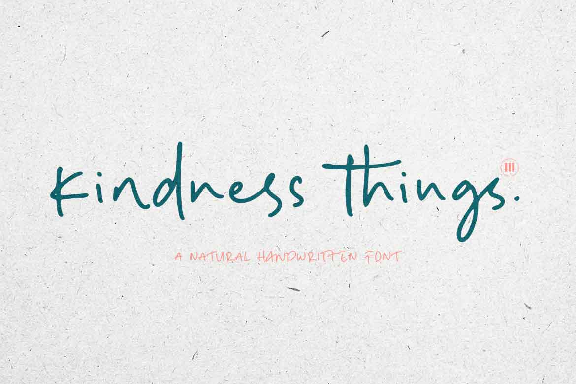 Kindness Things Font