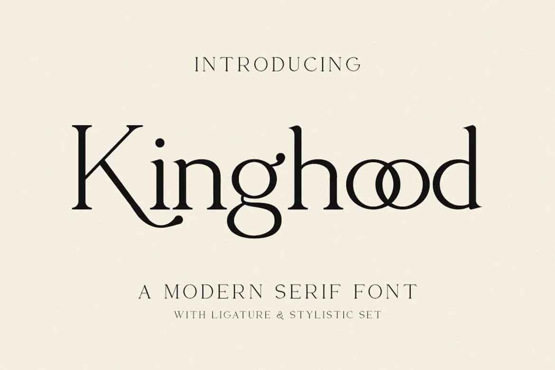 Kinghood Business Font