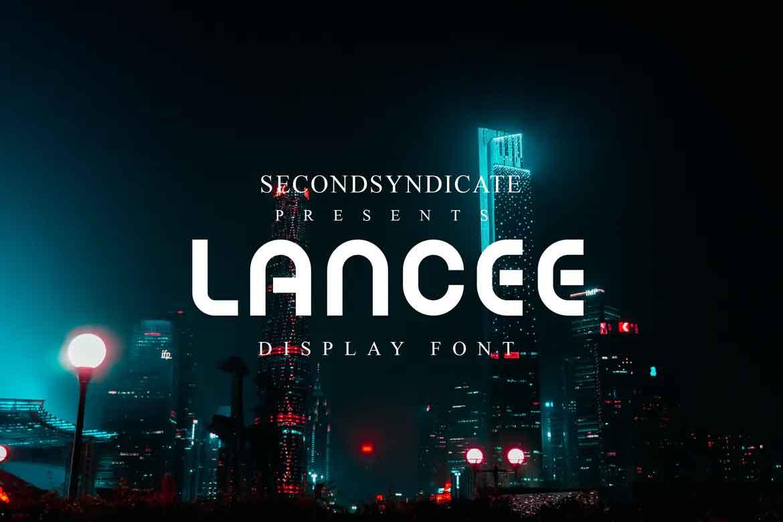 Lancee Display Font
