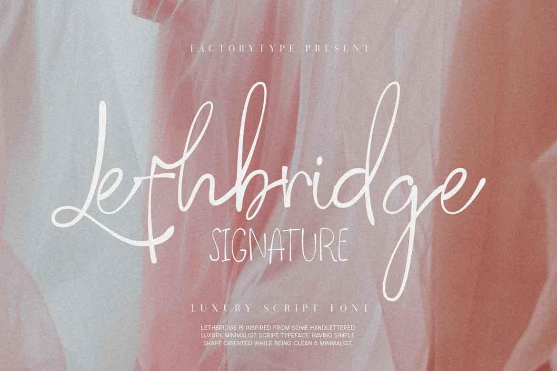 Lethbridge Signature Font