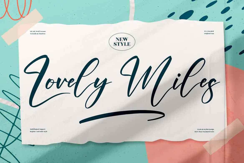 Lovely Miles Font