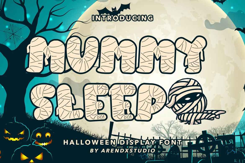 Mummy Sleep Font