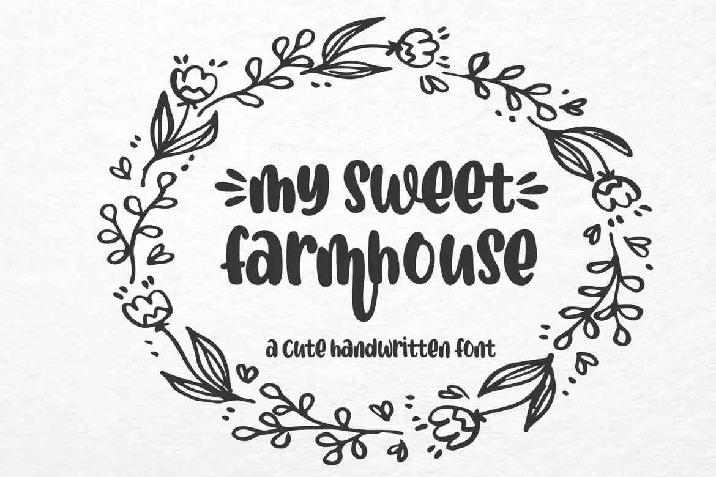 My Sweet Farmhouse Font