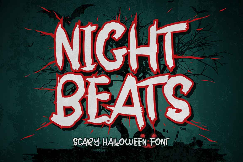 Night Beats Scary Halloween Font